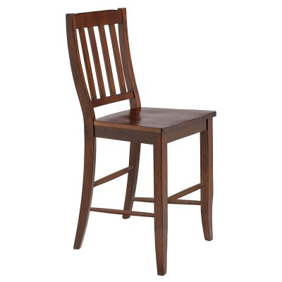 Andrews Dining - Schoolhouse barstool finished in Chestnut - front view DLU-ADW-B20-CT-2