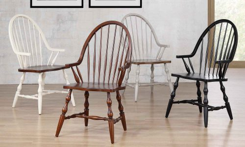 Andrews Dining - Windsor dining chairs with arms DLU-ADW-C30A-AW