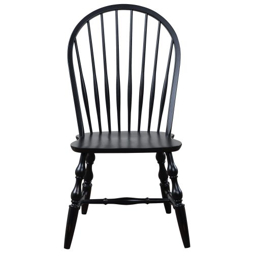 Black Cherry Selection - Windsor back dining chair - antique black finish - front view DLU-C30-AB-2