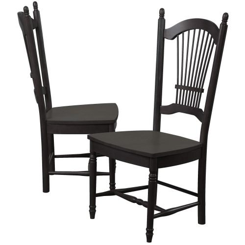 Black Cherry Selections - Allenridge dining chairs - 42 inches tall - finished in antique black DLU-C07-AB-2