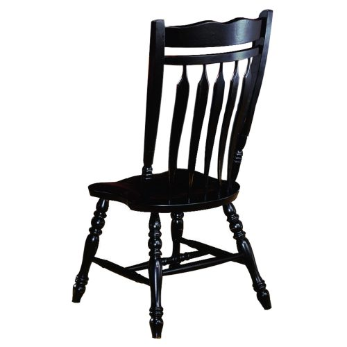 Black Cherry Selections - Aspen dining chair - 42 inches tall - finished in antique black - back view DLU-C10-AB-2