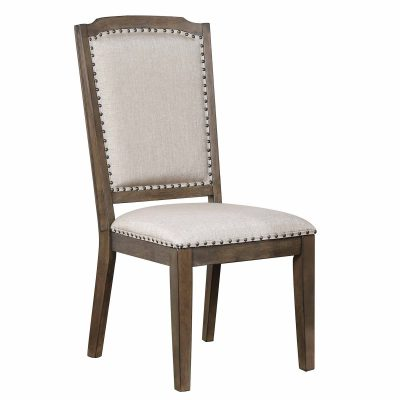 """Cali Dining Collection - 41"""" H upholstered dining chair - front view - DLU-CA-C113-2"""
