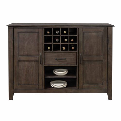 Cali Dining Collection - Server and wine storage - front view - DLU-CA113-SR
