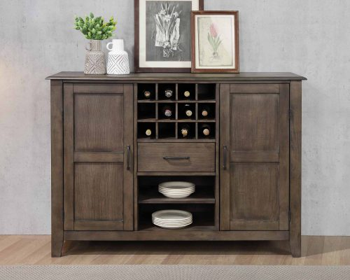 Cali Dining Collection - Server and wine storage - front view in dining room - DLU-CA113-SR
