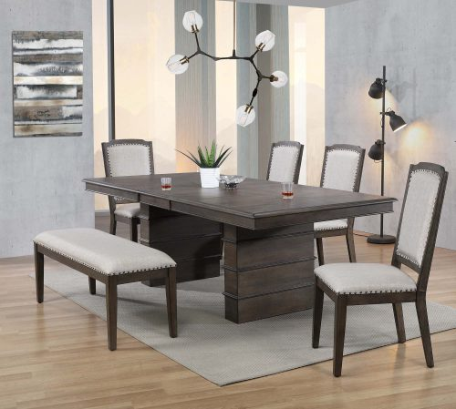 Cali Dining Collection - six-piece dining set - dining room setting DLU-CA113-4C-BN6PC