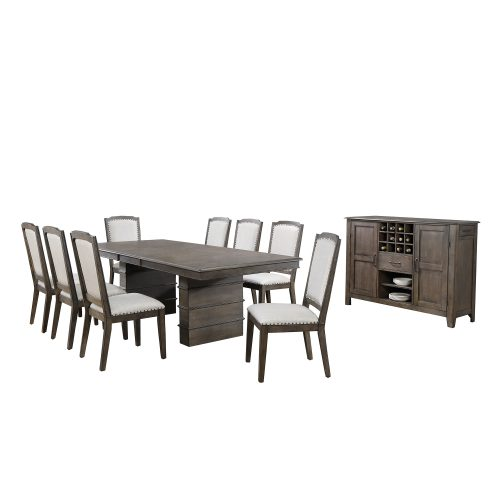 Cali Dining Collection - ten-piece dining set - three-quarter view DLU-CA113-8C-SR10PC