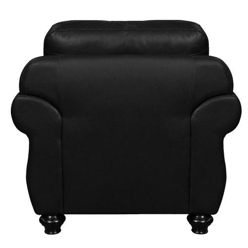 Charleston Chair in Black. Back view-SU-CR2130-80-100LF
