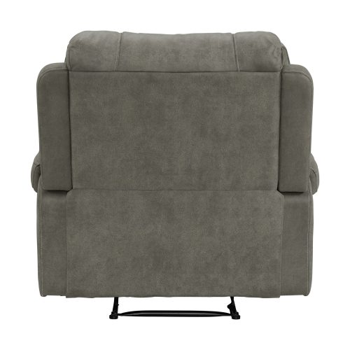 Clayton Motion Recliner in Grey. Back view SU-CL23004100-107