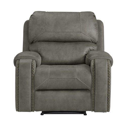 Clayton Motion Recliner in Grey. Front view SU-CL23004100-107