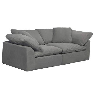 Cloud Puff 2-piece slipcovered modular sectional sofa SU-1458-94-2C