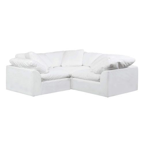 Cloud Puff 3-piece slipcovered modular L-shaped sectional sofa SU-1458-81-3C