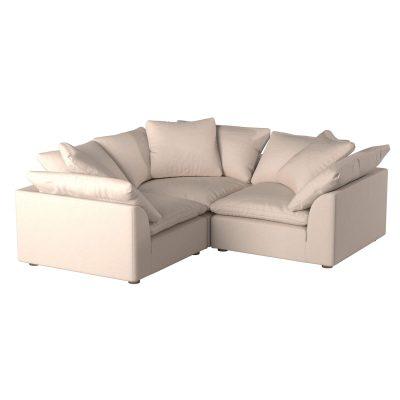 Cloud Puff 3-piece slipcovered modular L-shaped sectional sofa SU-1458-84-3C