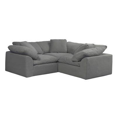 Cloud Puff 3-piece slipcovered modular L-shaped sectional sofa SU-1458-94-3C