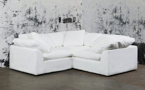 Cloud Puff 3-piece slipcovered modular L-shaped sectional sofa in room setting SU-1458-81-3C
