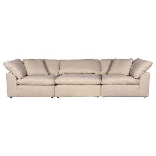 Cloud Puff 3-piece slipcovered modular sectional sofa SU-1458-84-2C-1A