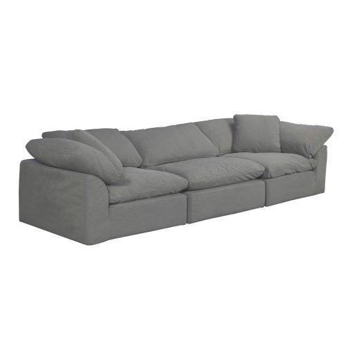 Cloud Puff 3-piece slipcovered modular sectional sofa SU-1458-94-2C-1A