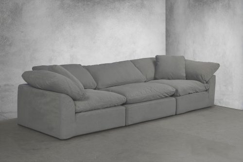 Cloud Puff 3-piece slipcovered modular sectional sofa room setting SU-1458-94-2C-1A