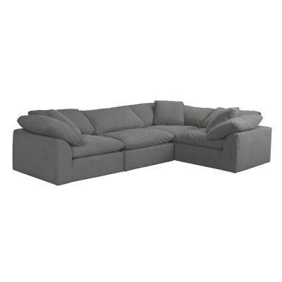 Cloud Puff 4-piece slipcovered modular L-shaped sectional sofa SU-1458-94-3C-1A