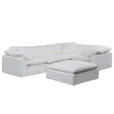 Cloud Puff 5-piece slipcovered modular sectional sofa SU-1458-81-3C-1A-1O