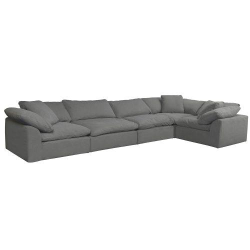 Cloud Puff 5-piece slipcovered sectional sofa SU-1458-94-3C-2A