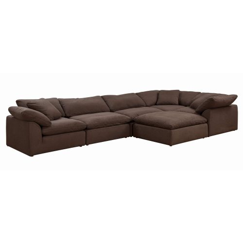Cloud Puff 6-piece slipcovered sectional sofa with ottoman SU-1458-88-3C-2A-1O