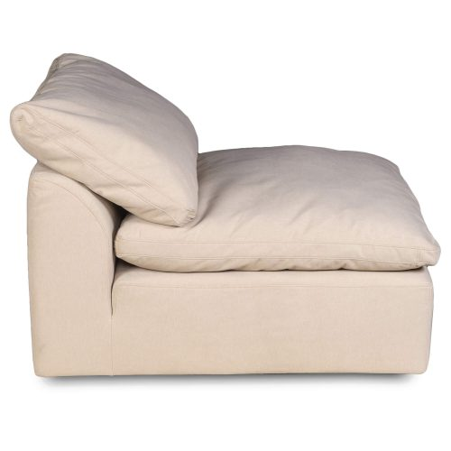 Cloud Puff Collection Armless Chair Modular Sofa Sectional - side view SU-145837-391084