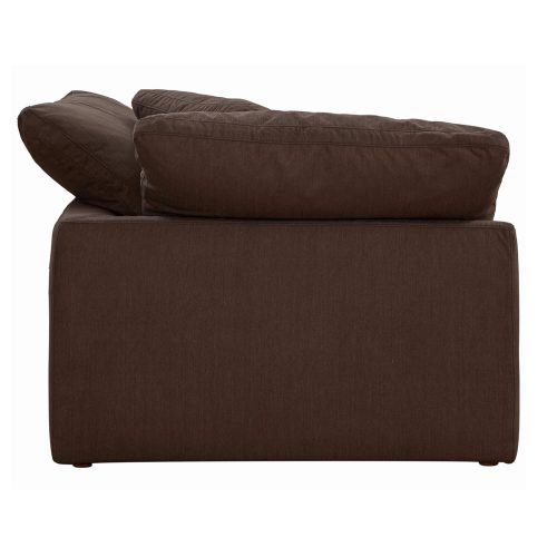 Cloud Puff Collection - Slipcovered sectional armchair modular corner sofa - back side view SU-145851-391088