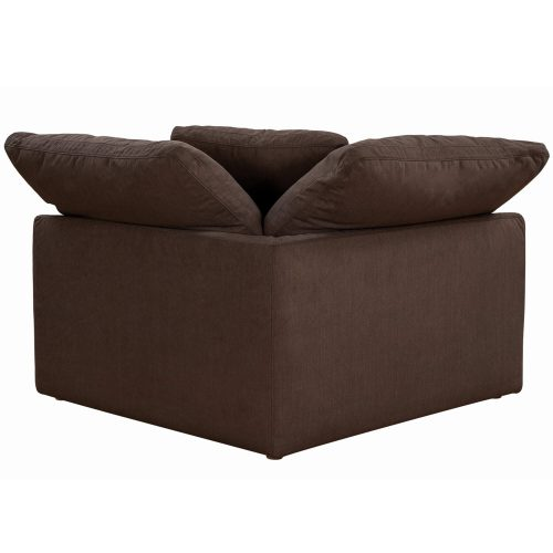 Cloud Puff Collection - Slipcovered sectional armchair modular corner sofa - back view SU-145851-391088