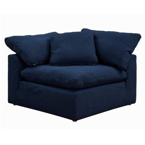 Cloud Puff Collection - Slipcovered sectional armchair modular corner sofa - front view SU-145851-391049