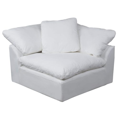 Cloud Puff Collection - Slipcovered sectional armchair modular corner sofa - front view SU-145851-391081