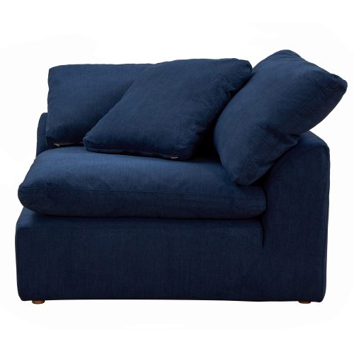 Cloud Puff Collection - Slipcovered sectional armchair modular corner sofa - seating side view SU-145851-391049