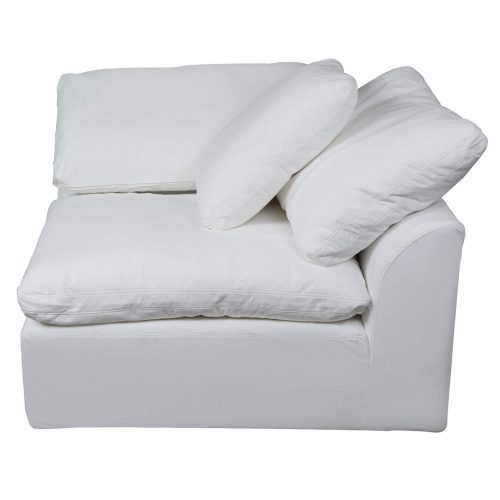 Cloud Puff Collection - Slipcovered sectional armchair modular corner sofa - seating side view SU-145851-391081