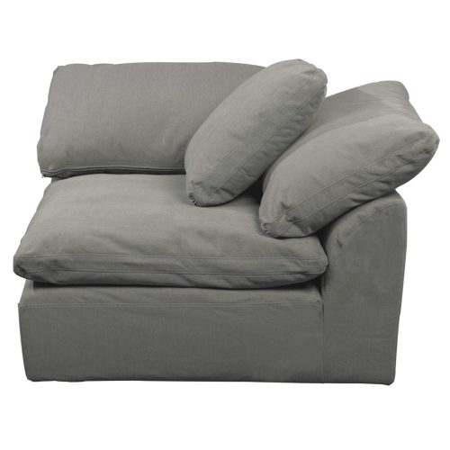 Cloud Puff Collection - Slipcovered sectional armchair modular corner sofa - seating side view SU-145851-391094