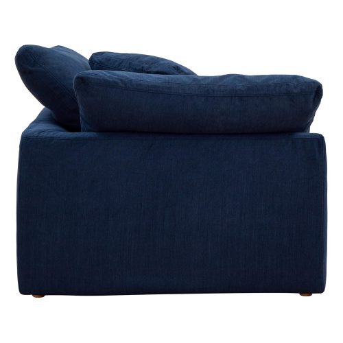 Cloud Puff Collection - Slipcovered sectional armchair modular corner sofa - side view SU-145851-391049