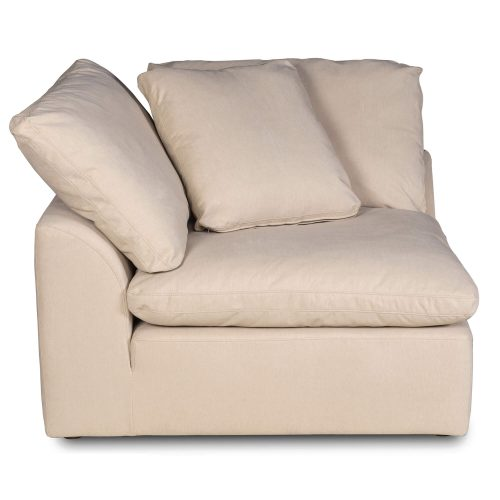 Cloud Puff Collection - Slipcovered sectional armchair modular corner sofa - side view SU-145851-391084