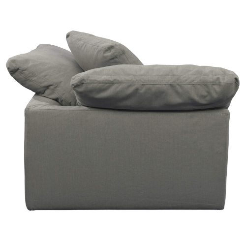 Cloud Puff Collection - Slipcovered sectional armchair modular corner sofa - side view SU-145851-391094
