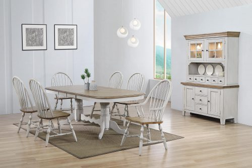 Country Grove Collection - Eight-piece dining set in dining room setting DLU-CG4296-30AGOBH8
