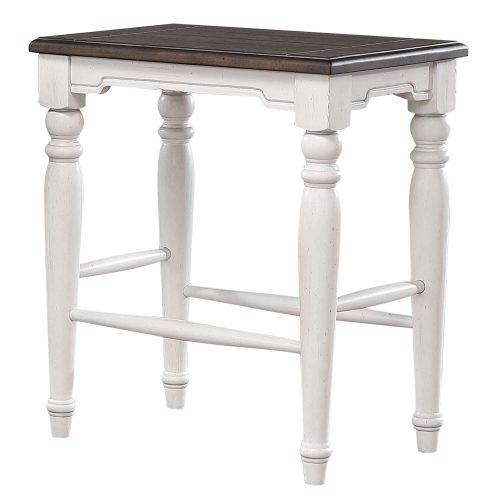 French Chic - backless stool - three-quarter view - DLU-FC1016-24W-RTA