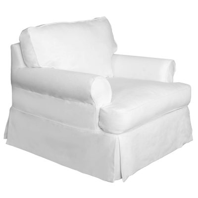 Horizon Slipcovered Collection - Padded Chair - three-quarter view SU-117620-391081