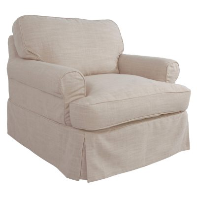 Horizon Slipcovered Collection - Padded Chair - three-quarter view SU-117620-466082