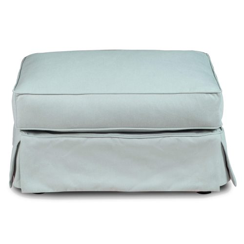 Horizon Slipcovered Collection - Padded Ottoman - Front view SU-117630-391043