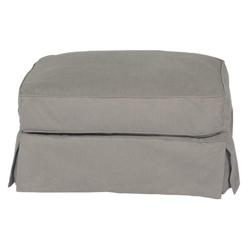 Horizon Slipcovered Collection - Padded Ottoman - Front view SU-117630-391094
