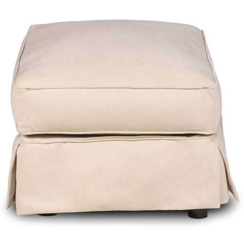 Horizon Slipcovered Collection - Padded Ottoman - Side view SU-117630-391084