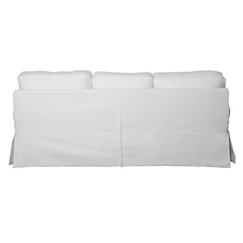 Horizon Slipcovered Collection - Padded Sofa - back view SU-117600-423080