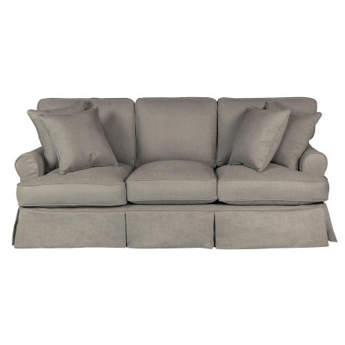 Horizon Slipcovered Collection - Padded Sofa - front view SU-117600-391094