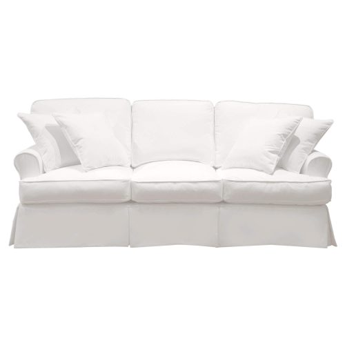Horizon Slipcovered Collection - Padded Sofa - front view SU-117600-423080