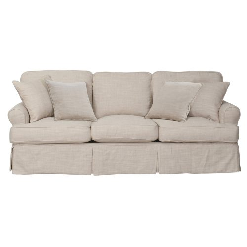 Horizon Slipcovered Collection - Padded Sofa - front view SU-117600-466082
