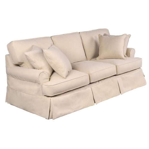 Horizon Slipcovered Collection - Padded Sofa - three-quarter view SU-117600-391084