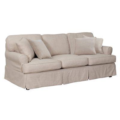 Horizon Slipcovered Collection - Padded Sofa - three-quarter view SU-117600-466082