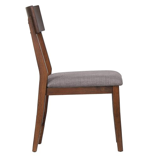 Mid-Century Dining Collection - dining chair with padded performance seat - side view DLU-MC-C45